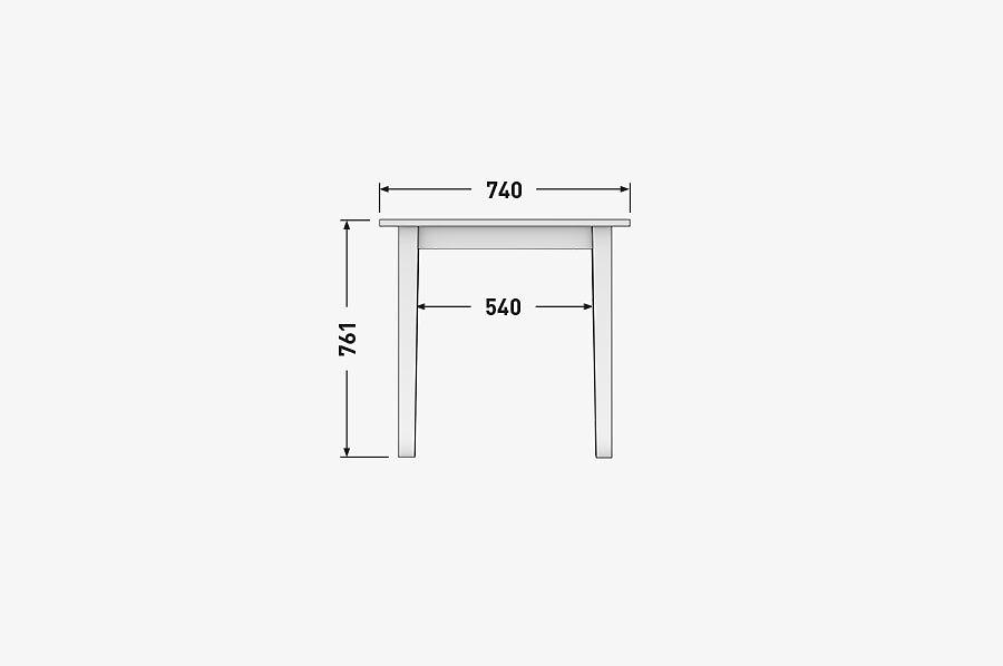 Solenn Design Tisch Knorke 01 Technische Zeichnung Front