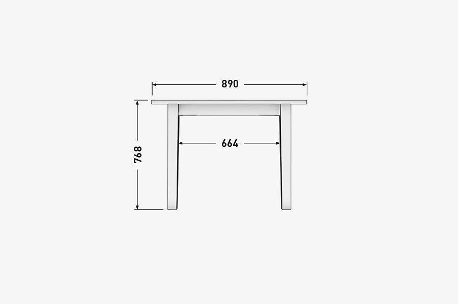 Solenn Design Tisch Knorke 04 Technische Zeichnung Front